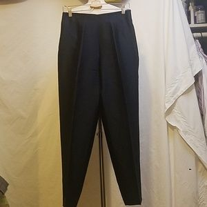 DANA BUCHMAN Navy Silk Side Zip Pants